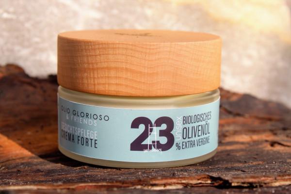 Gesichtspflege Crema Forte mit 23% biologischem, nativem Olivenöl Extra Vergine